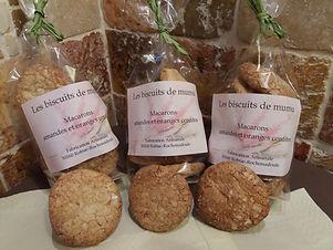 Macarons d'antan aux amandes et oranges confites 150g - Les Biscuits de Mumu