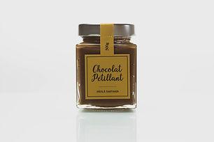 Pâte à tartiner artisanale chocolat pétillant - La nougaterie Des Fumades