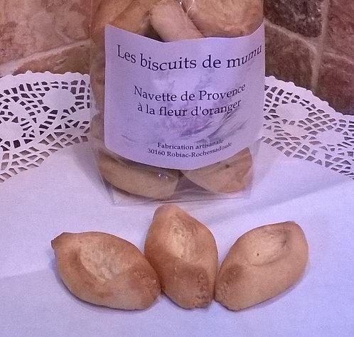 Biscuiterie de Mumu -  Navette de Provence à la fleur d'oranger 150g