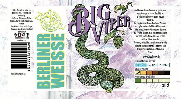 Bière ZooBrew - Big Viper Berliner Weisse 33cl