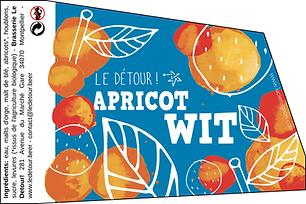 Bière Apricot Wit Blanche - 33cl - Brasserie Le Détour !