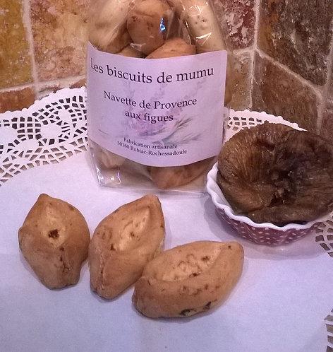 Biscuiterie de Mumu -  Navettes aux figues 150g