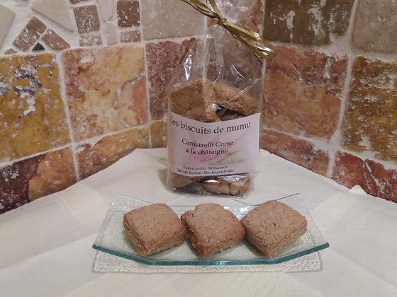 Biscuiterie de Mumu -  Canistrelli Corse à la châtaigne 150g