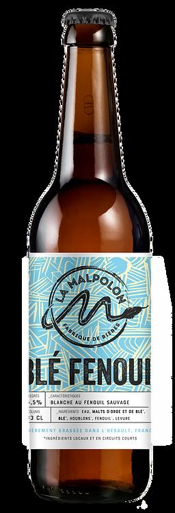 Bière La Malpolon -Blé Fenouil (Blanche) 33cl