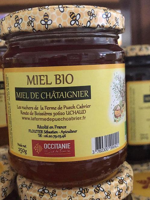 Les Ruchers de la Ferme de Puech Cabrier - Miel de Châtaigner 250g