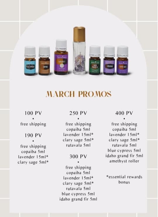 March Essential Rewards Promos