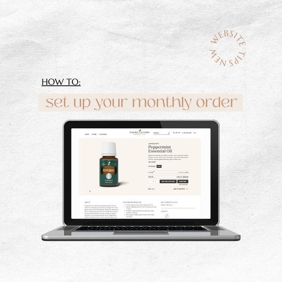 How To Set Up Your Monthly Order