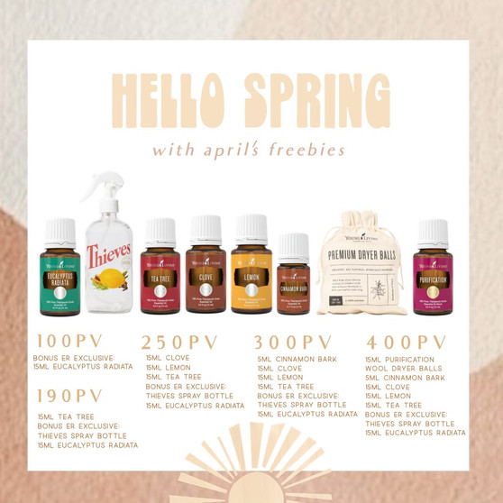 April Essential Rewards Promos