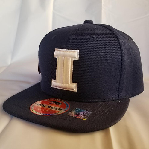 Navy Blue and White Inglewood Hat
