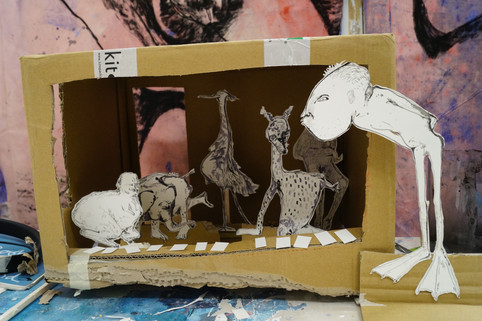 Maquette for an exhibtion proposal