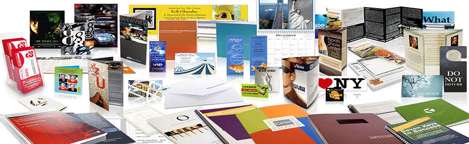 A sampling of Dupli-Groups printed products