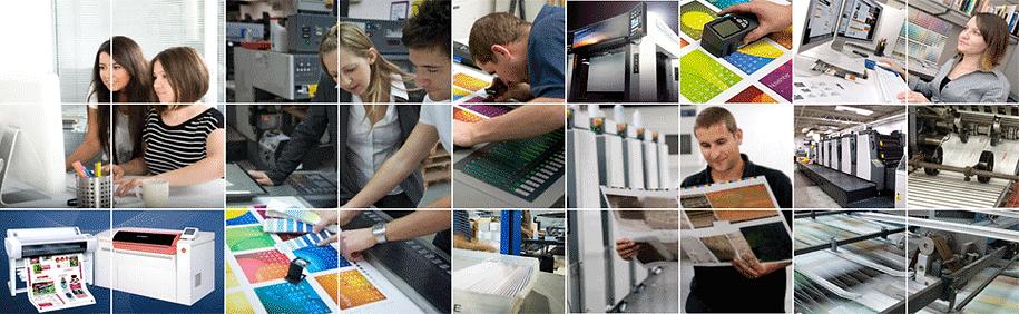 Dupli-Group range of service including design, prepress, printing, bindery, mailing