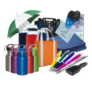 Pens, car chargers, umbrellas, calendars