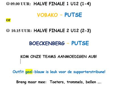 U12: halve finale Beveren