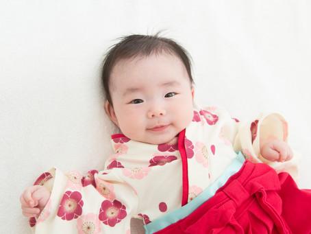お宮参り撮影 3ヶ月の女の子