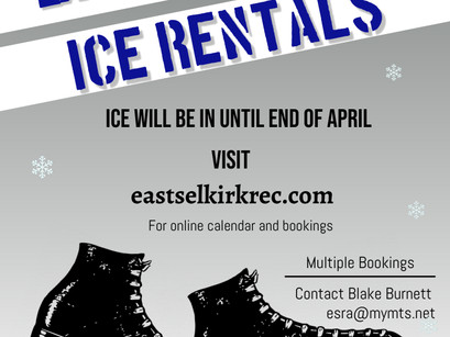 East Selkirk Arena Available for Rent!