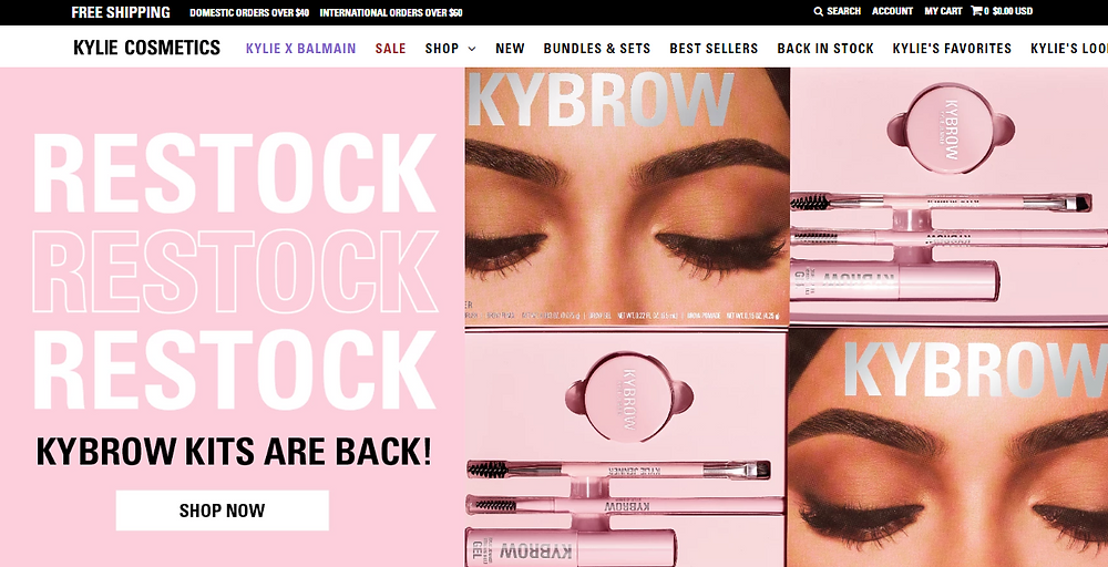 Shopify-Mejores-Sitios-Web-Kylie-Cosmetics-Zoek-Agencia-de-Marketing