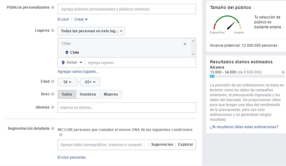 """Paso para Crear un Anuncio y Sumar Seguidores en Facebook N° 2: """"Segmentación"""""""