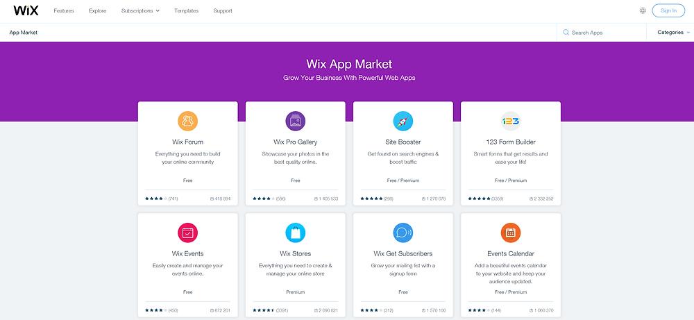 Wix-Diseño-Web-Wix-App-Market