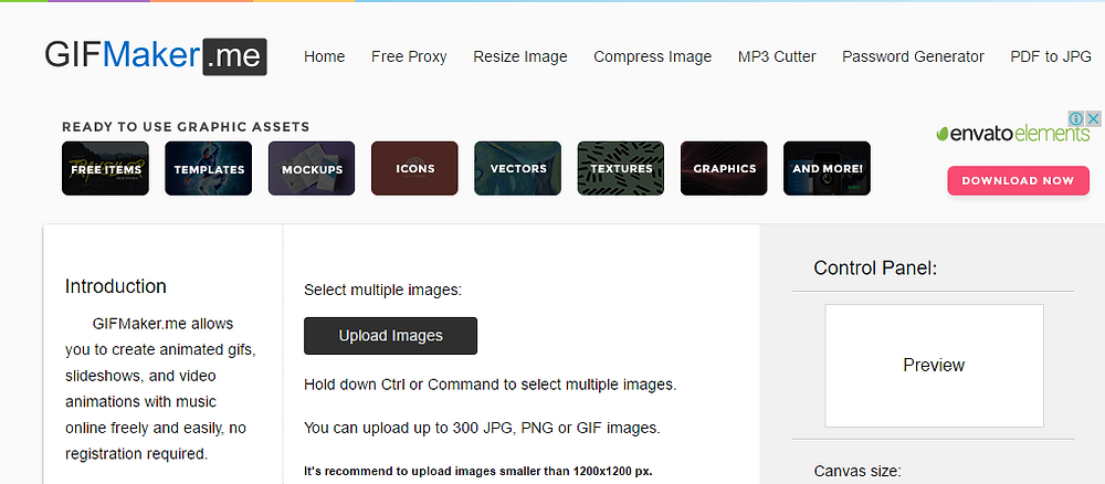 Sitio Web para Crear Material Gráfico Online y Gratis N° 3: GIFMaker