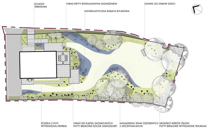 Projekt koncepcyjny ogrodu w Krakowie