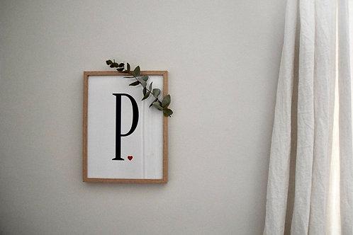 Affiche Lettre