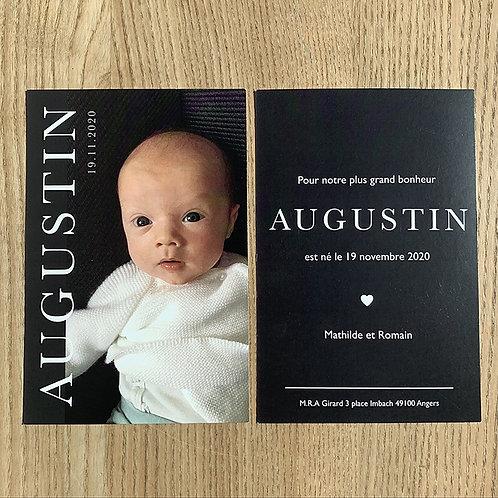 Faire-part Augustin
