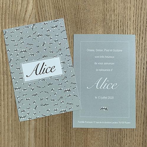 Faire-part Alice