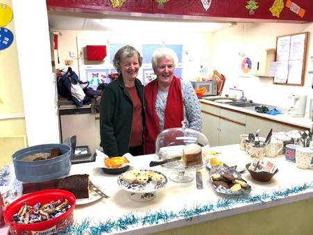 Doreen & Frances the trusty kitchen crew