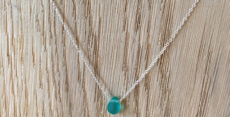 Teardrop Bead Necklace - Teal