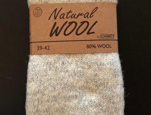 Wool socks ESKIMO 80% virgin superior wool - Natural