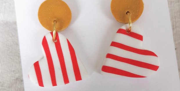 Red and Mustard Stripes
