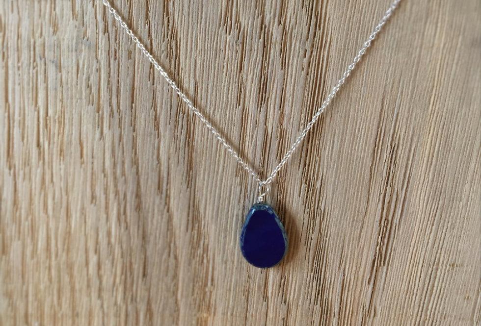 Picasso Stone Necklace - Cobalt Blue