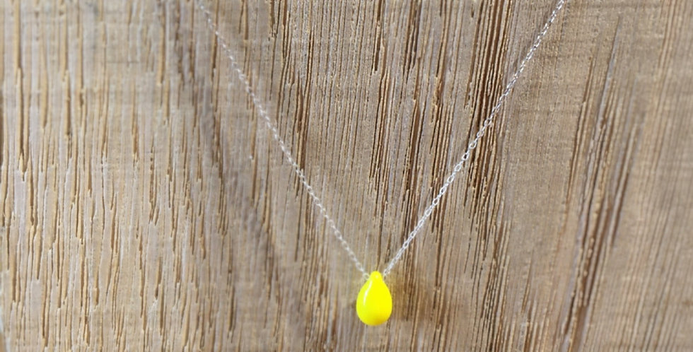 Teardrop Bead Necklace - Yellow