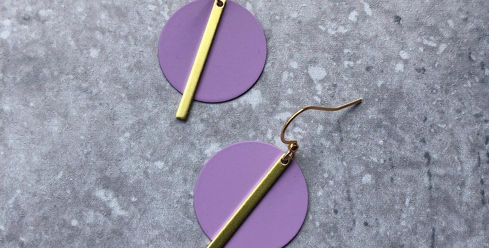 SOLAR EARRINGS - Lilac