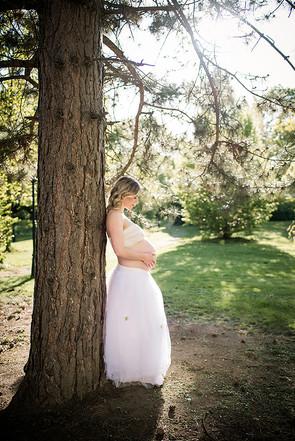 těhotenské focení v lese