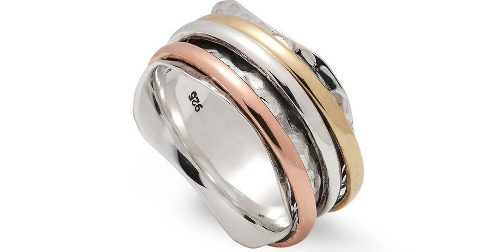 WAVE MULTI BANDED RING