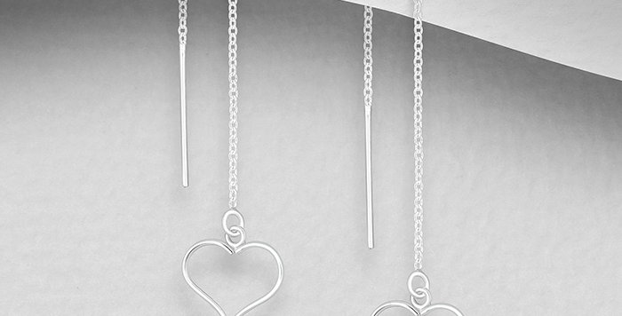 Thread Earrings - Heart cut out