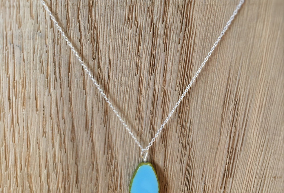 Picasso Stone Necklace - Blue