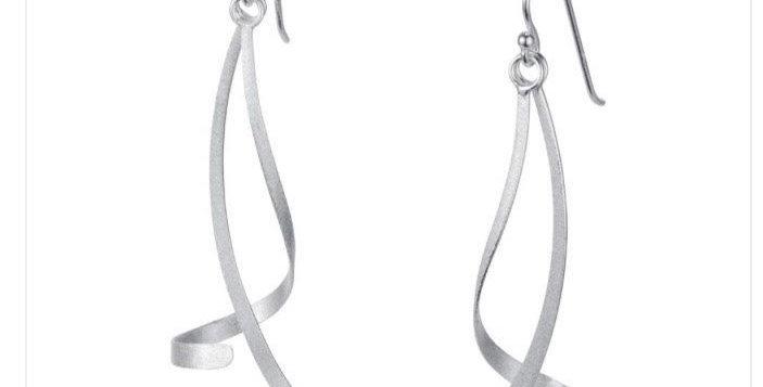 Twist and Turn Silver Earrings