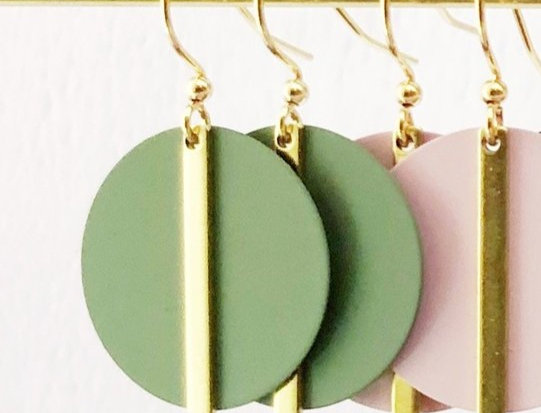 SOLAR EARRINGS - Olive
