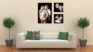 foto koláž z rodinných fotek fotoobraz