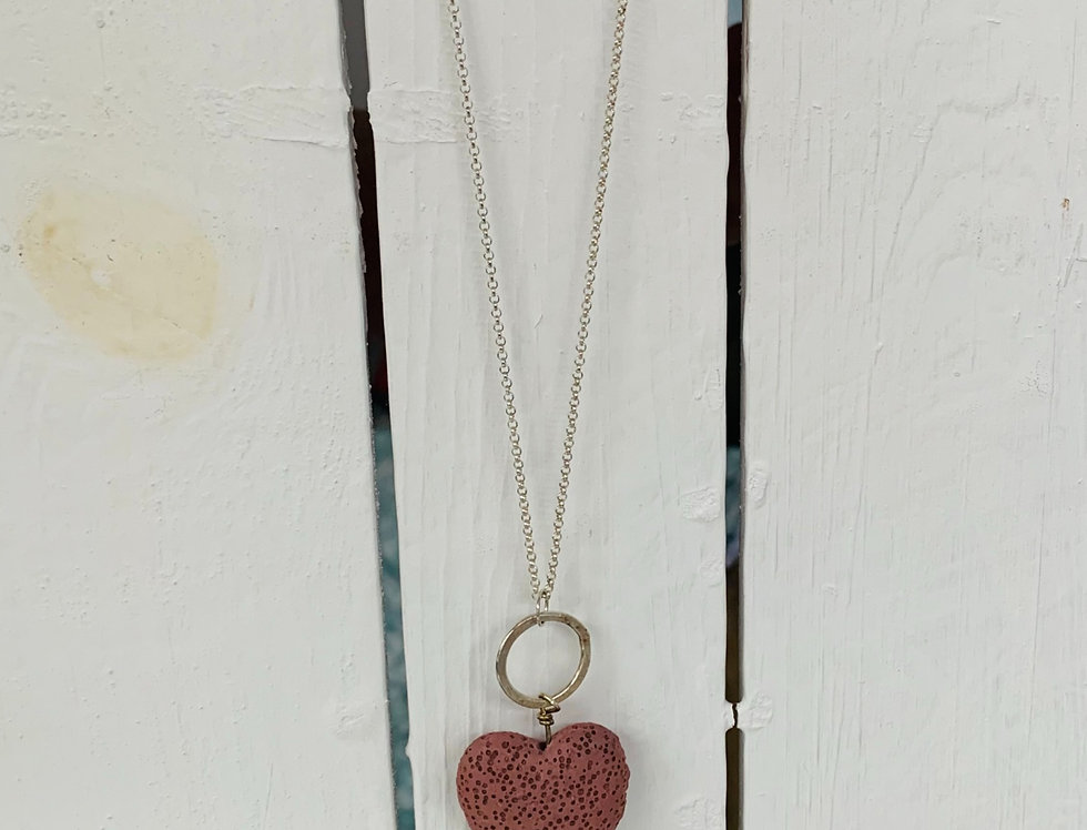 Lava heart necklace - Pink