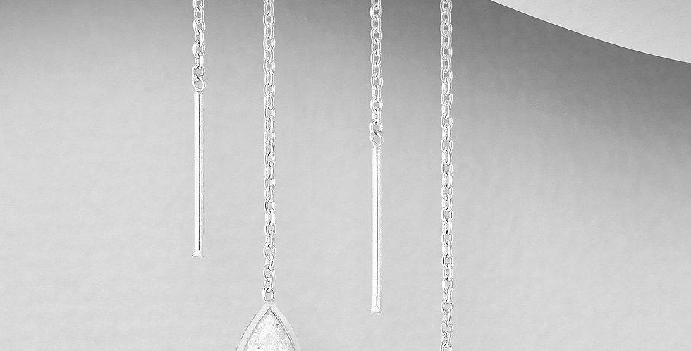 Thread Earrings - diamond