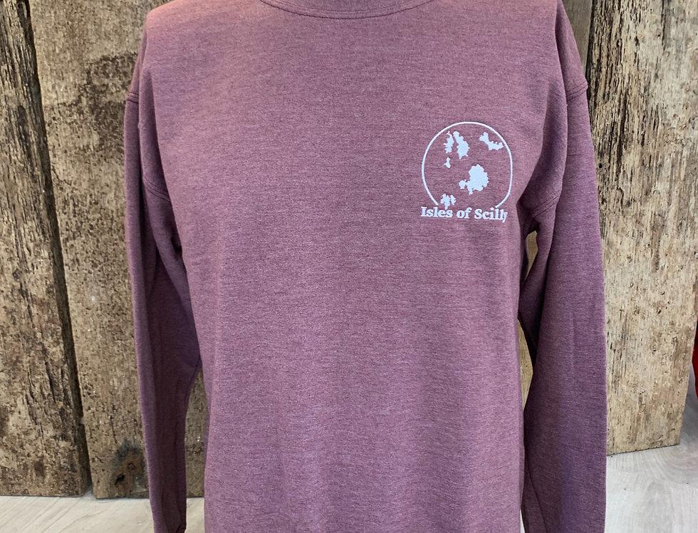 Map - heather burgundy