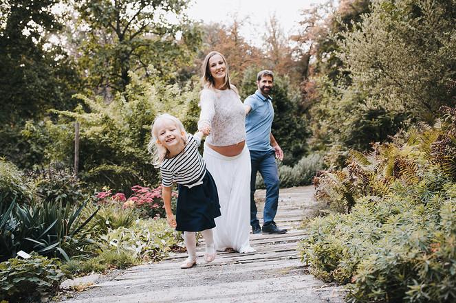těhotenské focení s rodinou