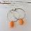 Thumbnail: Teardrop Hoops - Orange