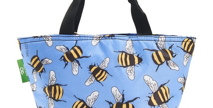 EcoChic Foldable Lunch Bag - Bees Blue