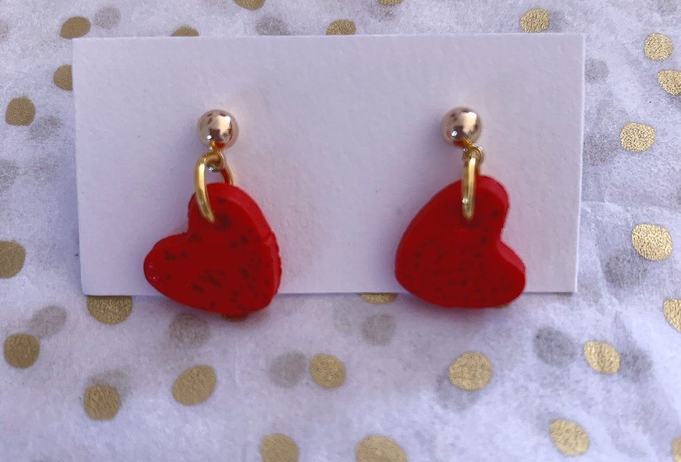 Love Hearts - red