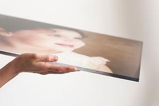 detail akrylátové sklo fotoobraz s fotografií